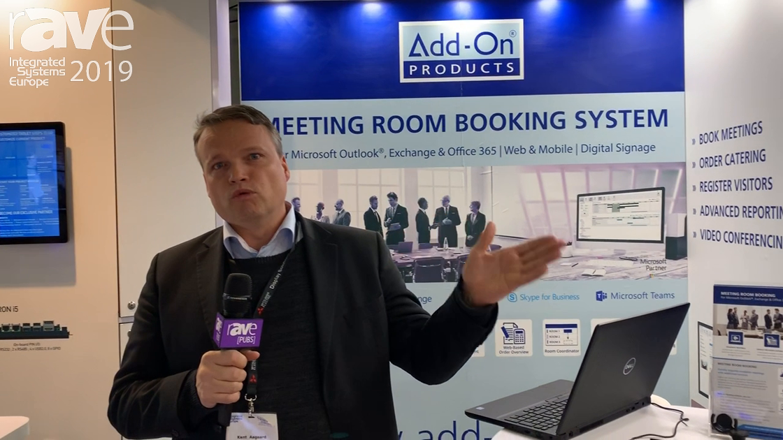 ISE 2019: Add-On Products Features Its Meeting Room Booking System