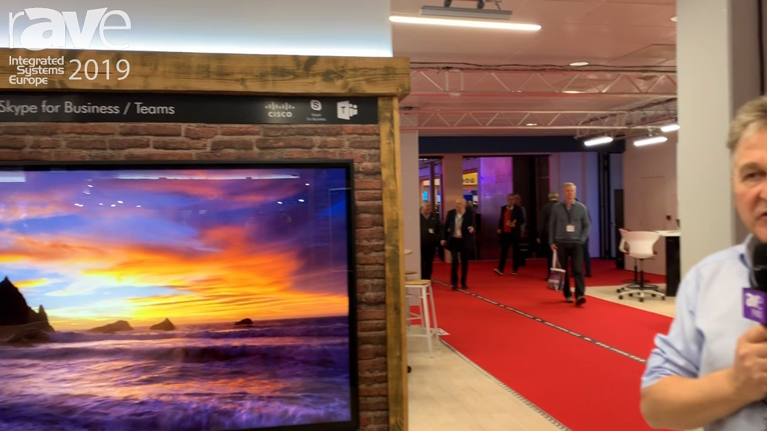 ISE 2019: Ashton Bentley Demos Dual 75″ 4K With Touch Overlay Collaboration Display for Cisco Spark