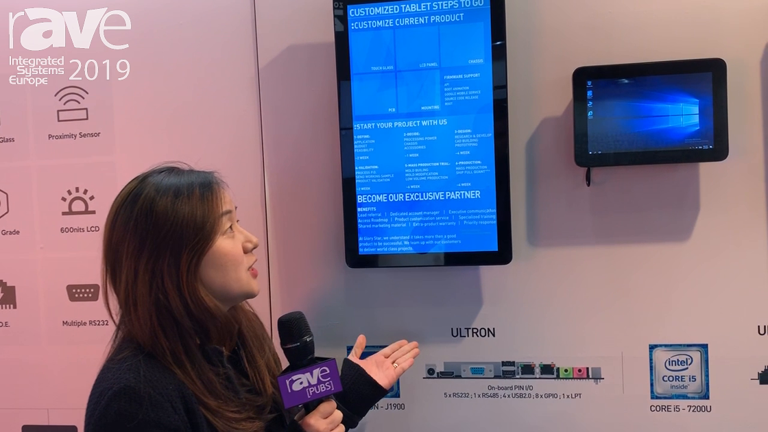 ISE 2019: Glory Star Group Shows Ultron Windows-Based Tablets for Kiosks or Control Panels