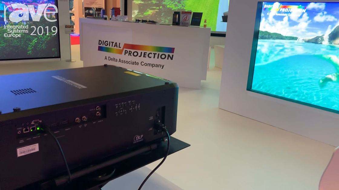 ISE 2019: Digital Projection Shows M-Vision and E-Vision Laser Projectors