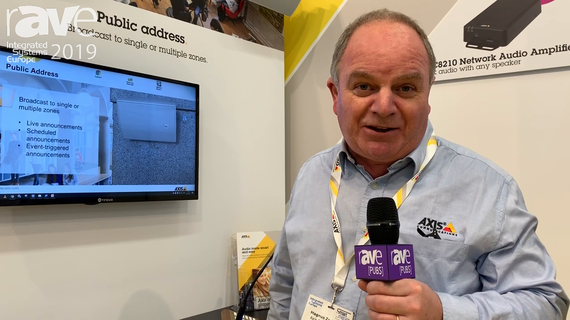 ISE 2019: AXIS Communications Shows Network Audio for Public Address Systems, Business Enviroments