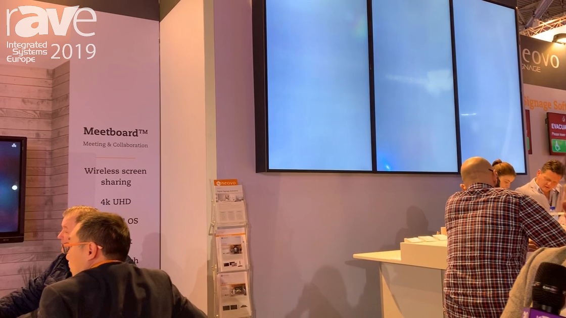 ISE 2019: Neovo Solutions Explains Meetboard for Huddle Spaces and Collaboration