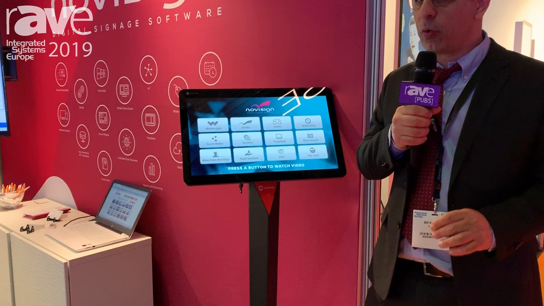 ISE 2019: Novisign Demos Kiosk Software Using AOPEN for Indoor/Outdoor Use