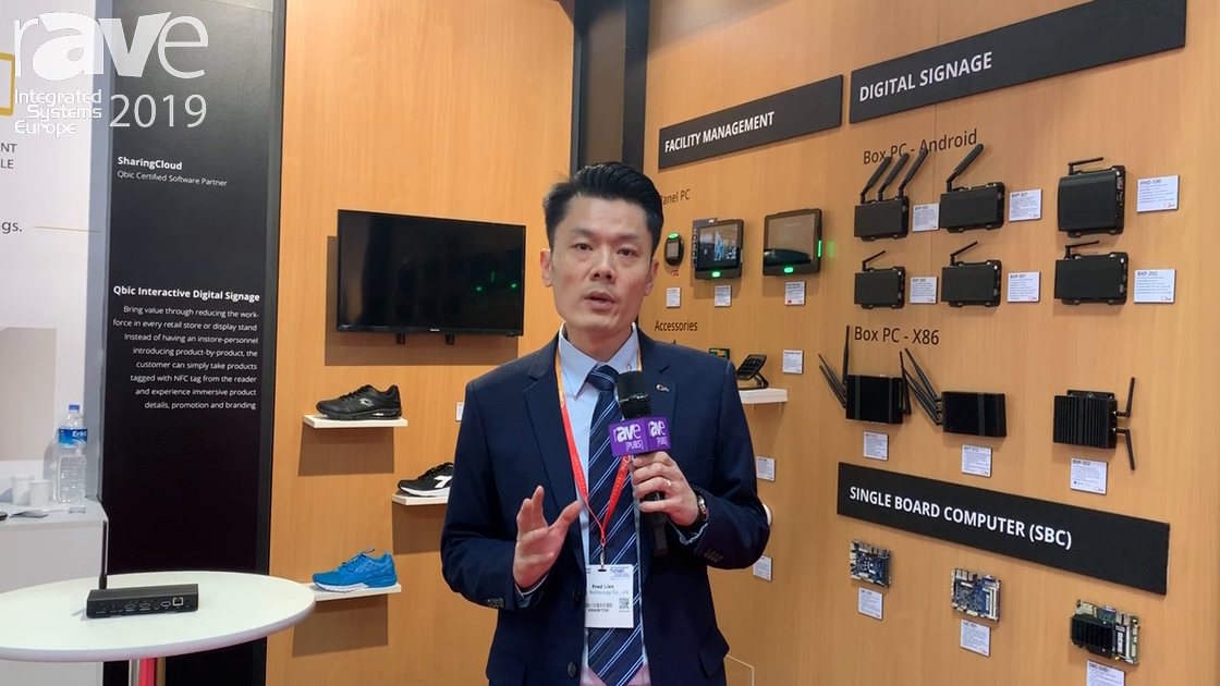 ISE 2019: Qbic Technology Shows BXP-321 4K Digital Signage Player With Live HDMI In