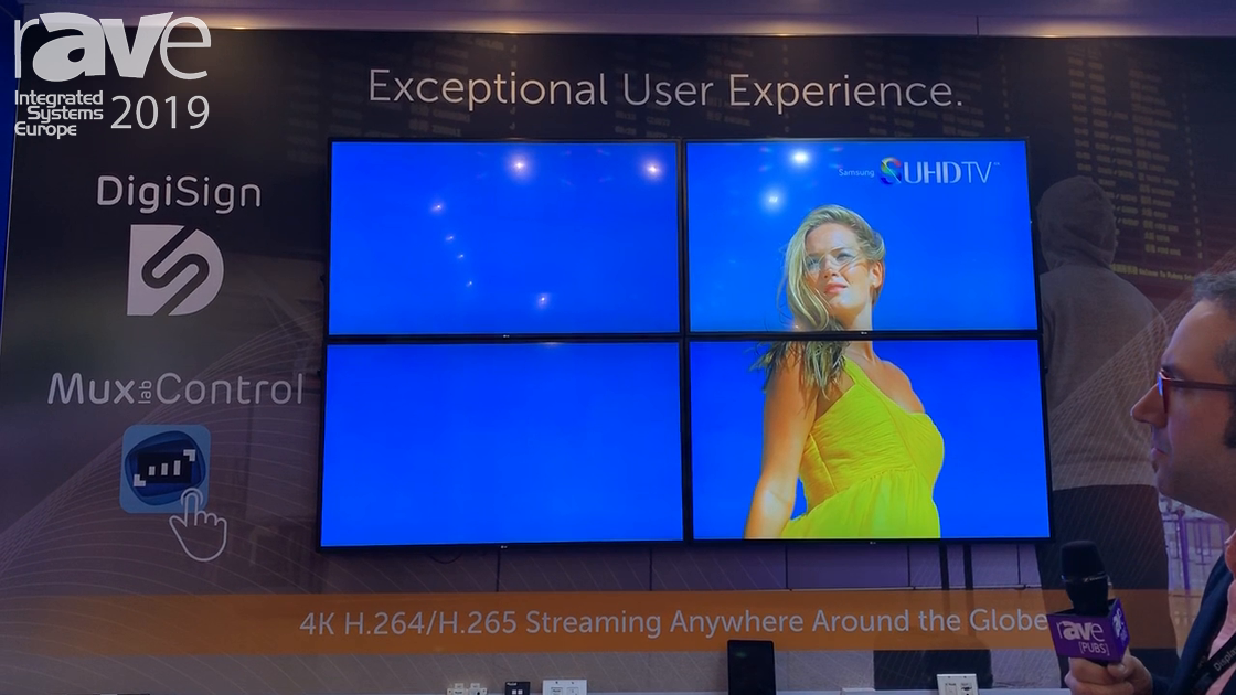 ISE 2019: MuxLab Shows Off Multi-View Digital Signage Setup with DigiSign Software