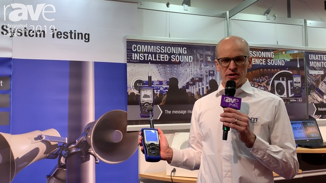 ISE 2019: NTI Audio Demos XL2 Sound Level Meter for Public Address Evacuation System Testing