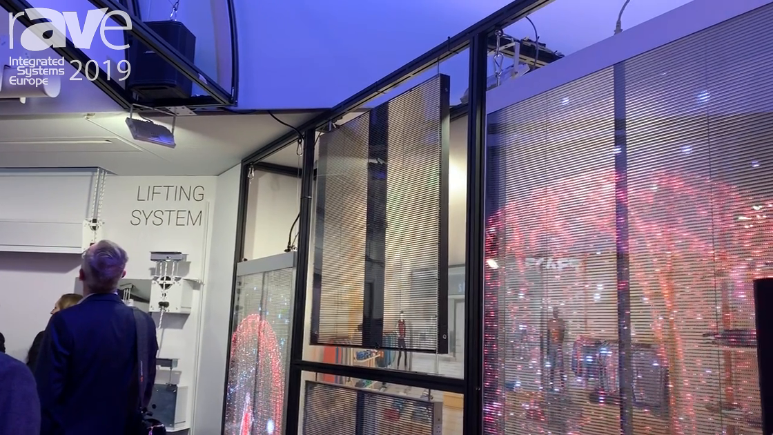 ISE 2019: ScreenLine Features the NEXNOVO Transparent LED Display Series