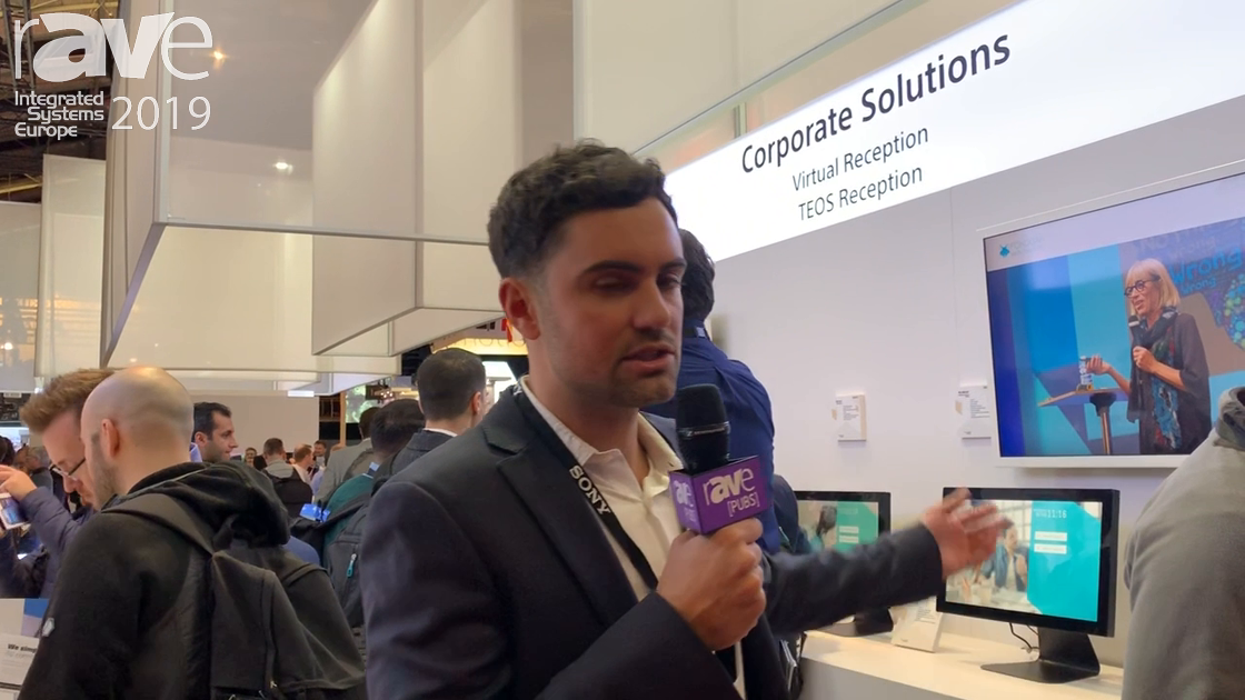 ISE 2019: Sony Electronics Overviews TEOS Reception, a Virtual Reception Solution