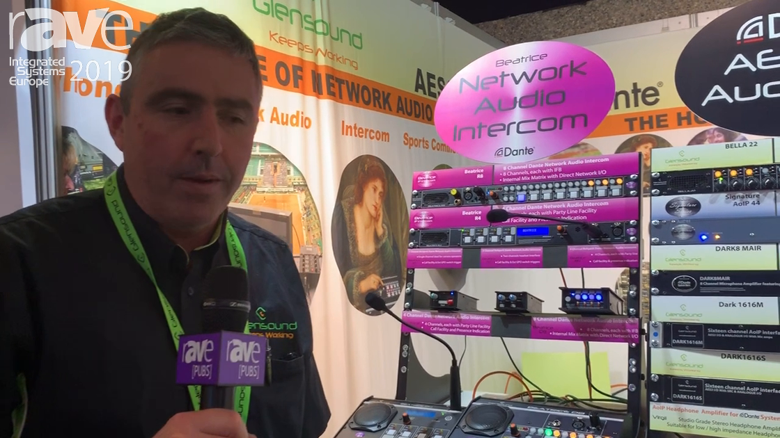 ISE 2019: Glensound Presents Beatrice Network Audio Intercom with Dante