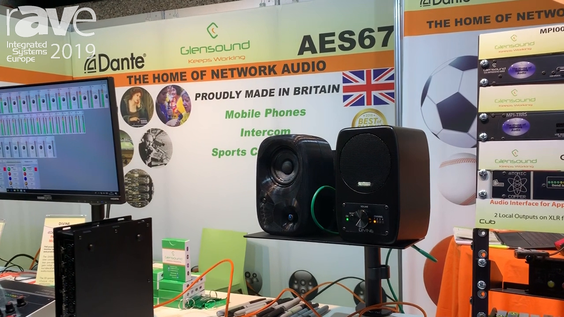 ISE 2019: Glensound Introduces the Divine PoE Network Loudspeaker