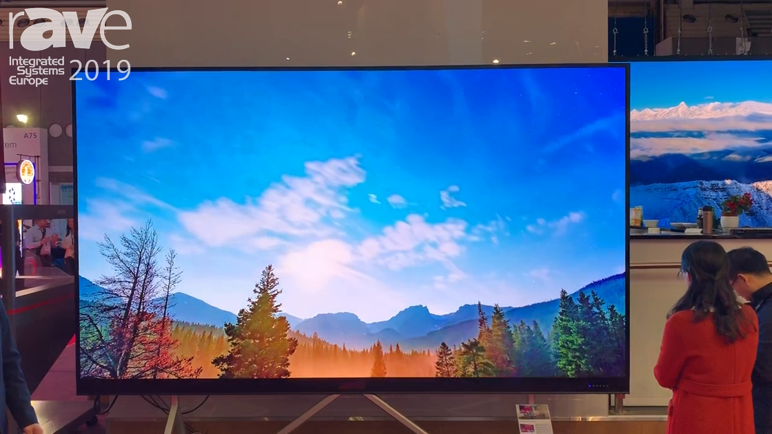 ISE 2019: AOTO GTEK Presents the 4K CLD163 Mini LED 163″ Display in 0.9mm Pixel Pitch