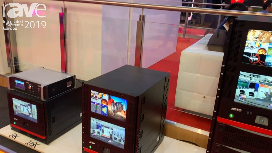 ISE 2019: AOTO Electronics Shows New Show Control Intelligent Image Processing Array