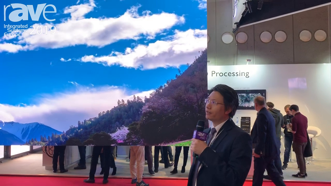 ISE 2019: AOTO Electronics Co. Demos Commercial 1.5mm LED Display With 8Kx2K Resolution