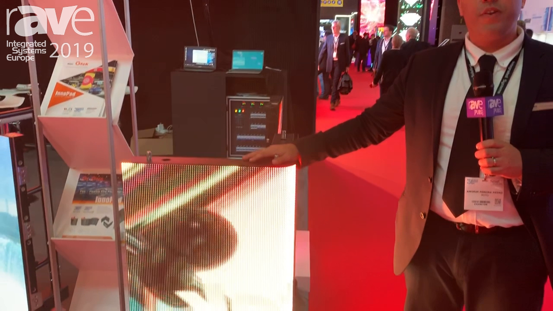 ISE 2019: AOTO Electronics Showcases the Gtek Gtank Corner-Shaped LED Display
