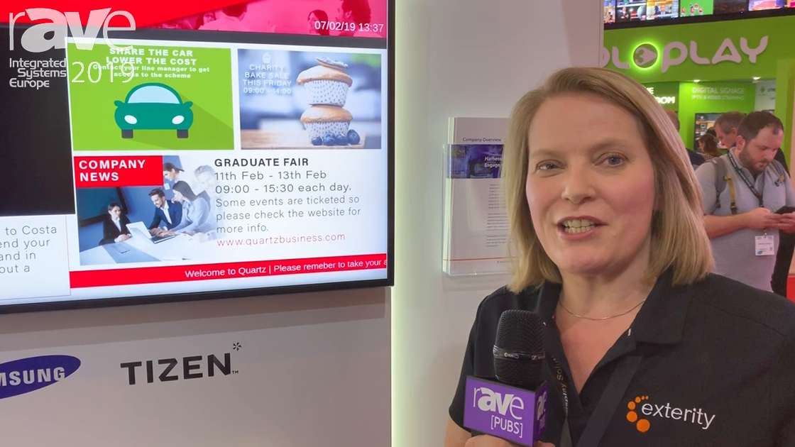 ISE 2019: Exterity Presents ArtioSign Combination Digital Signage and IPTV Product