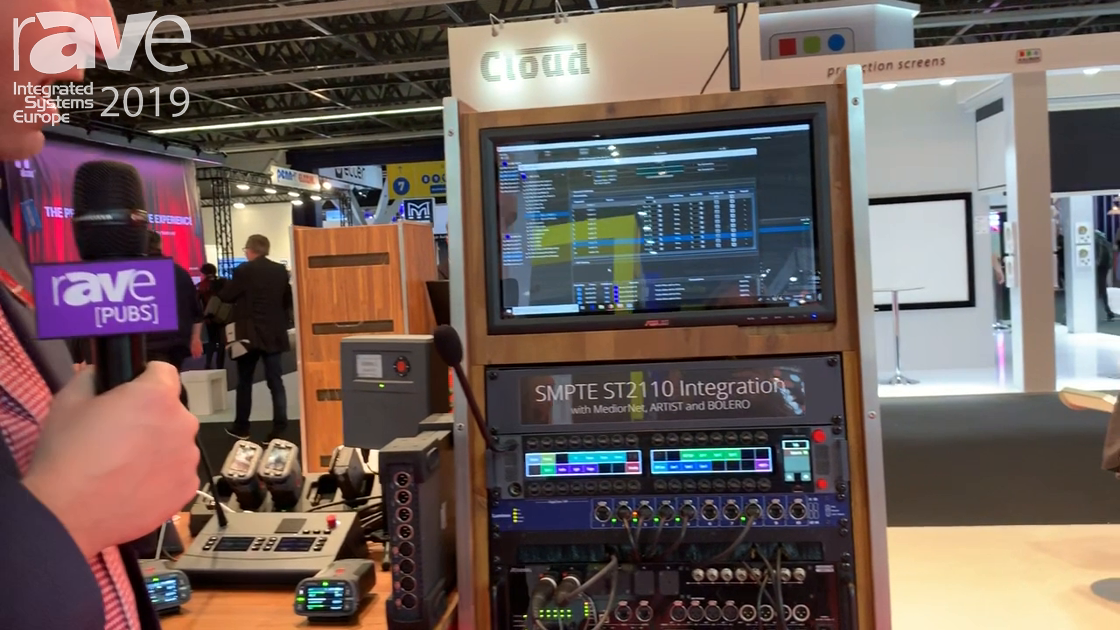 ISE 2019: Riedel Communications Shows SMPTE ST2110 Integration 32 Lever Key Panel for Sound Mixing