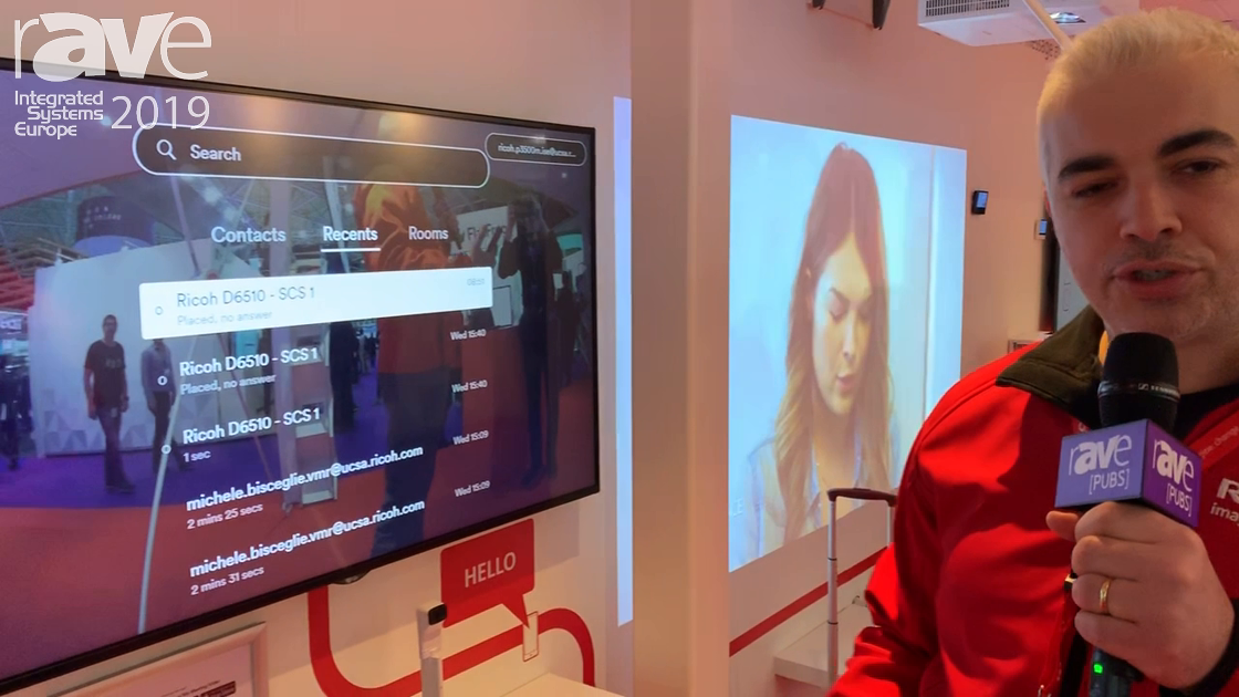 ISE 2019: Ricoh Gives Overview of Unified Communication System with Advanced Meeting Connect