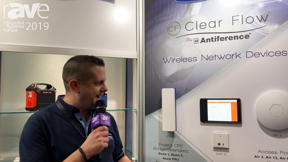 ISE 2019: Antiference Shows Range of Clear Flow Network Access Points