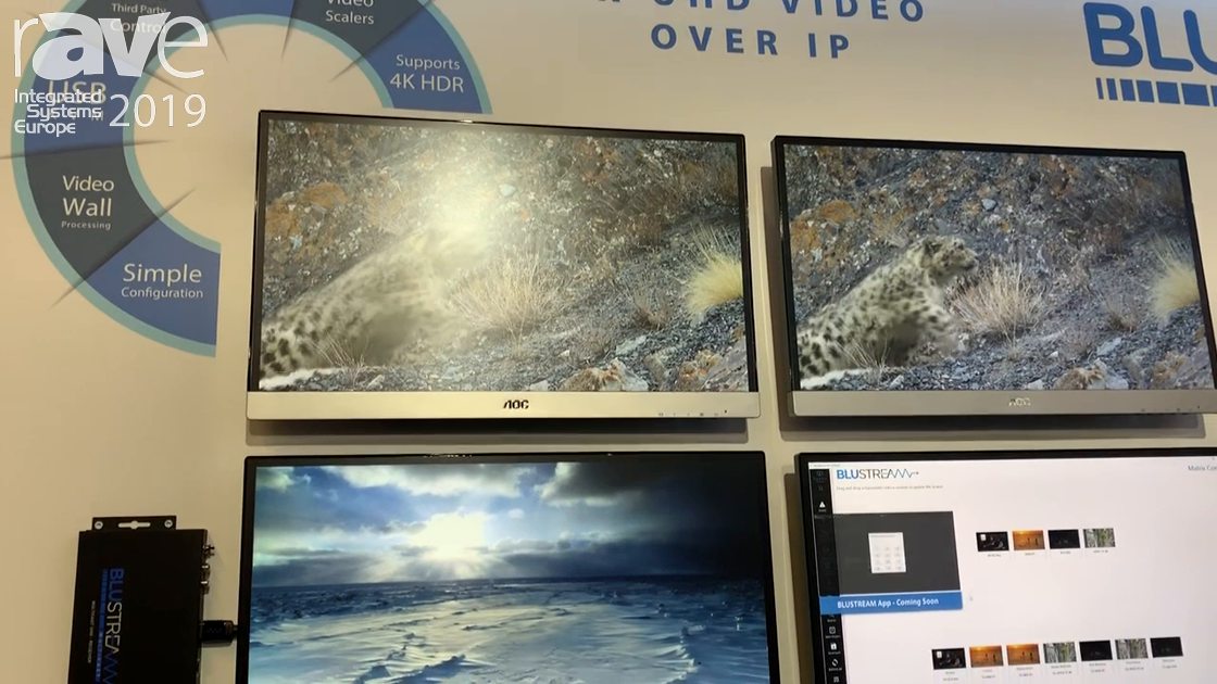 ISE 2019: Blustream Presents IP200 Video-over-IP Streaming Product