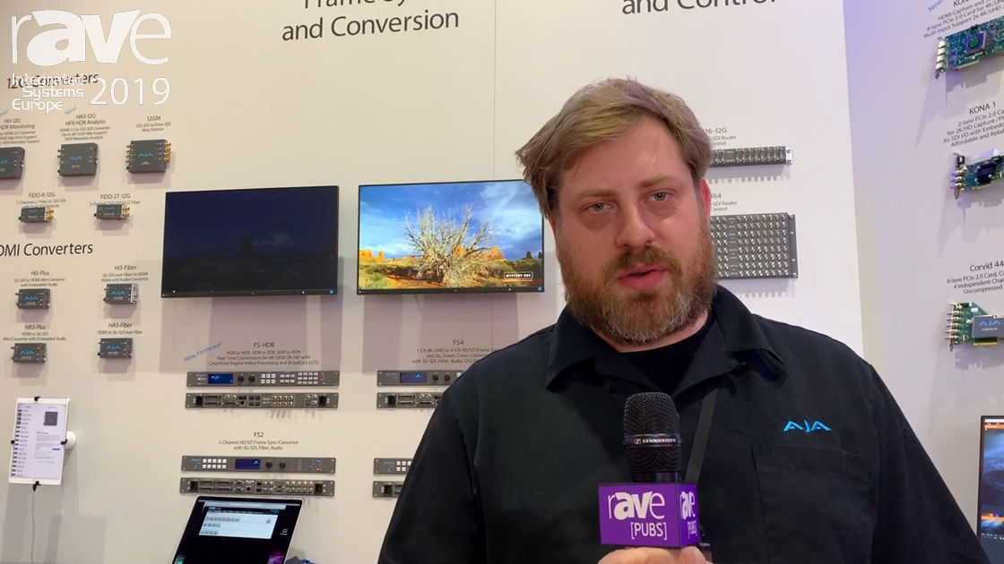 ISE 2019: AJA Showcases Streaming with Helo H.264 Encoder for Streaming Output