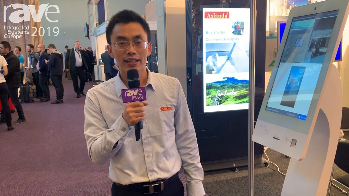 ISE 2019: Asianda Demos Its Interactive Touch Kiosk With Facial Recognition