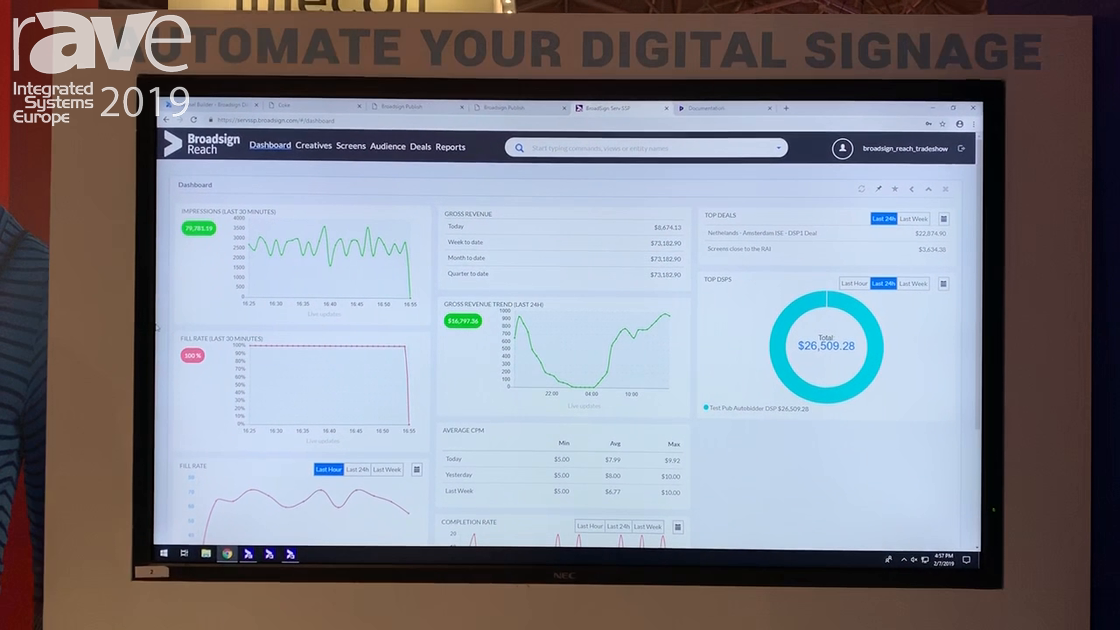 ISE 2019: Broadsign Explains Its Reach-SSP Supply Side Platform for Digital-out-of-Home Ad Sales