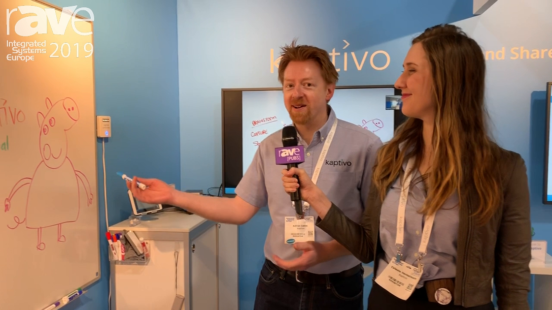 ISE 2019: Kaptivo Talks Whiteboard Camera Solutions for Analog Whiteboards