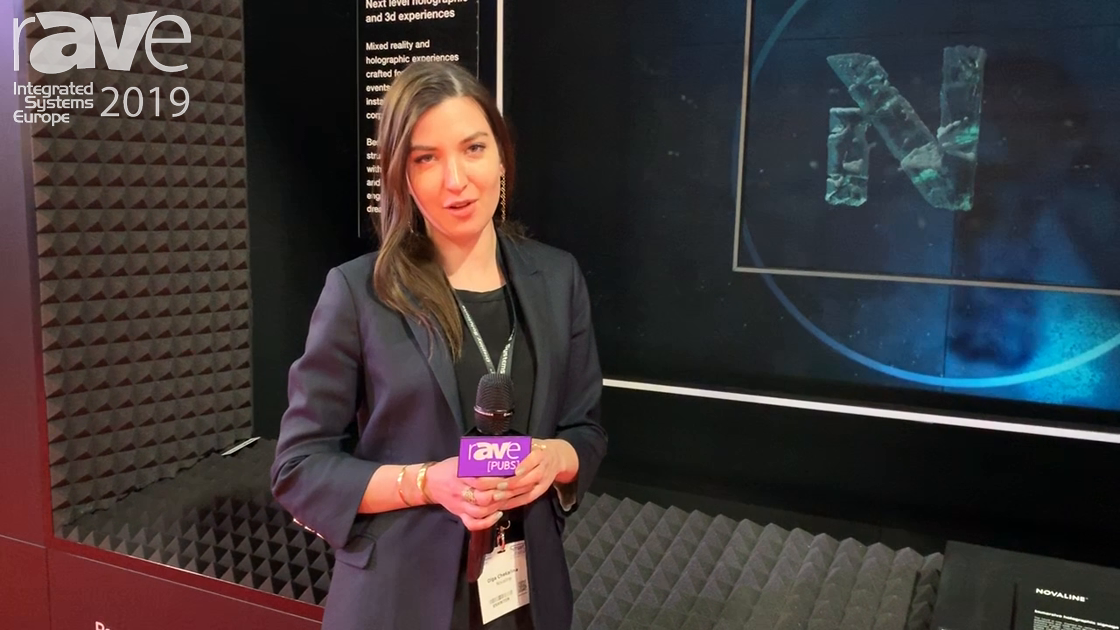 ISE 2019: Novaline Presents Transparent Holographic Screen