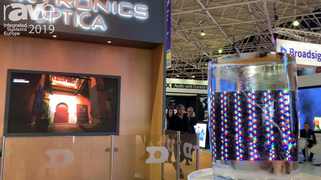 ISE 2019: Daktronics Shows Functioning IP65-Rated LED Module Encased In Ice