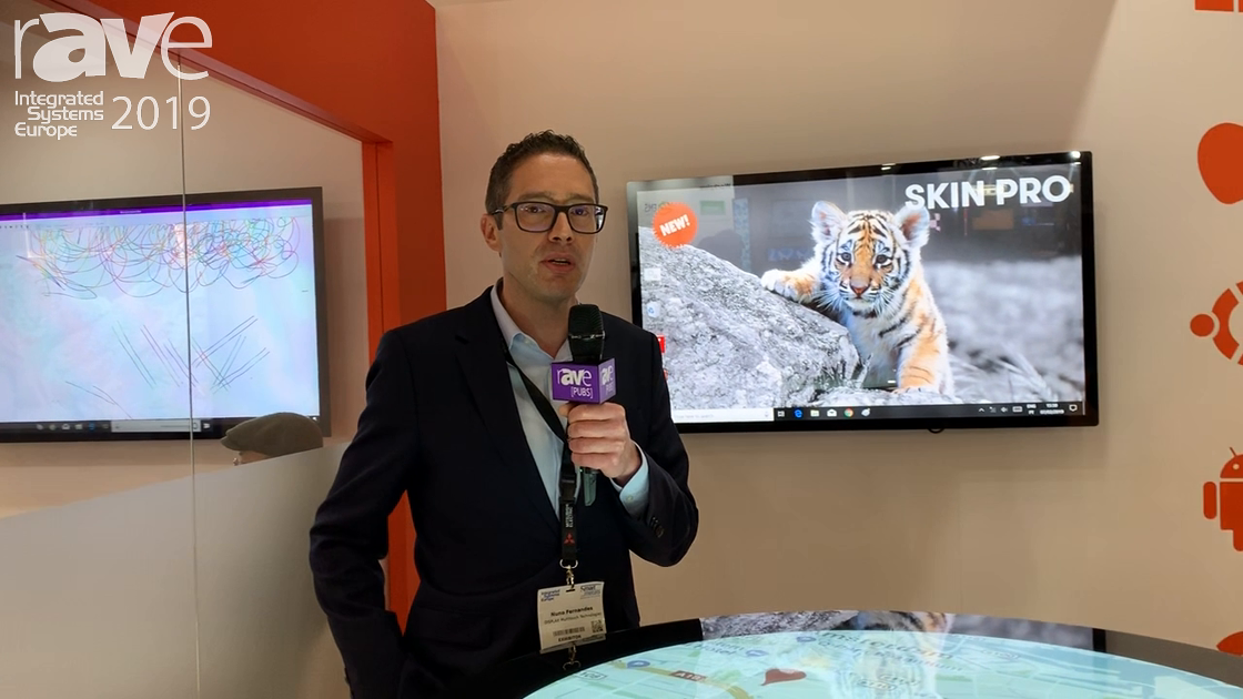 ISE 2019: DISPLAX Demos Its Skin Fit Round Circle Display With Object Recognition