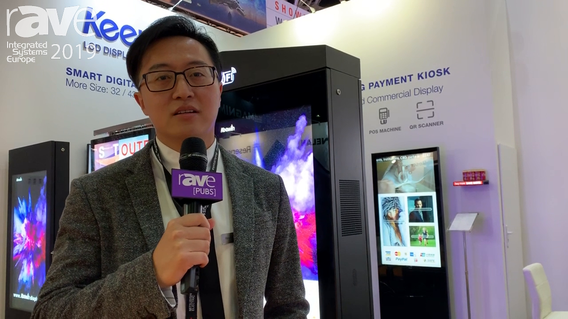ISE 2019: Keewin Features Mobile Battery-Powered Digital Kiosk for Shopping Malls