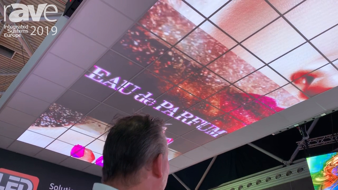 ISE 2019: LEDGO Shows Off LED Display Replacements for Drop Ceilings in Office Environments