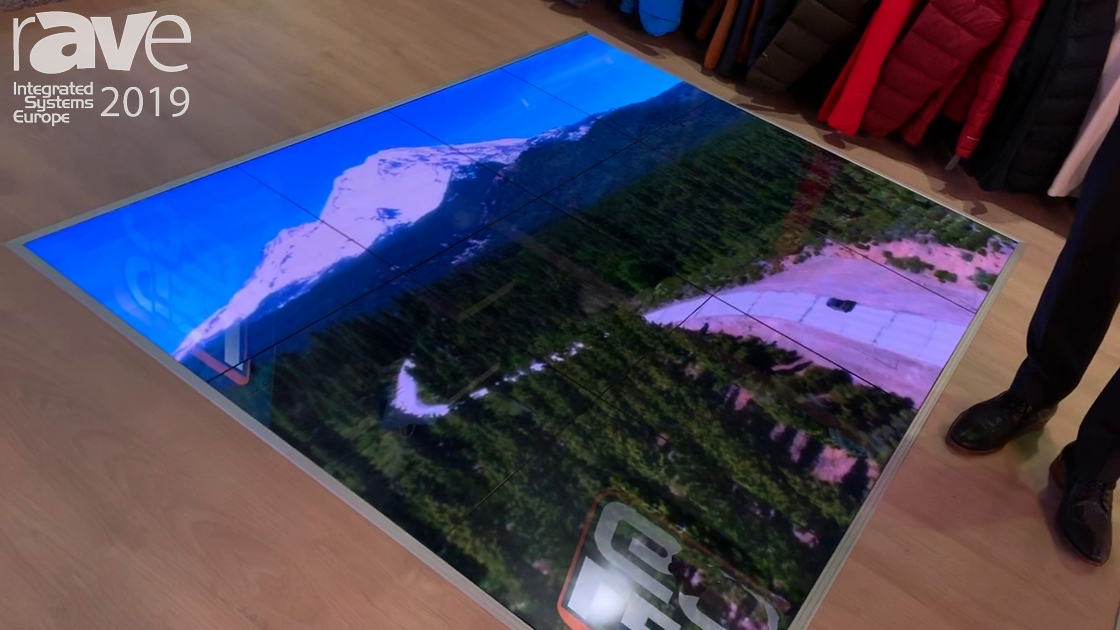 ISE 2019: LEDGO Features the Black Spinel 1.9mm Interactive LED Floor Display