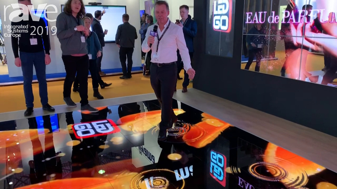 ISE 2019: LEDGO Shows Off the Black Spinel 3.9mm LED Interactive Floor Display