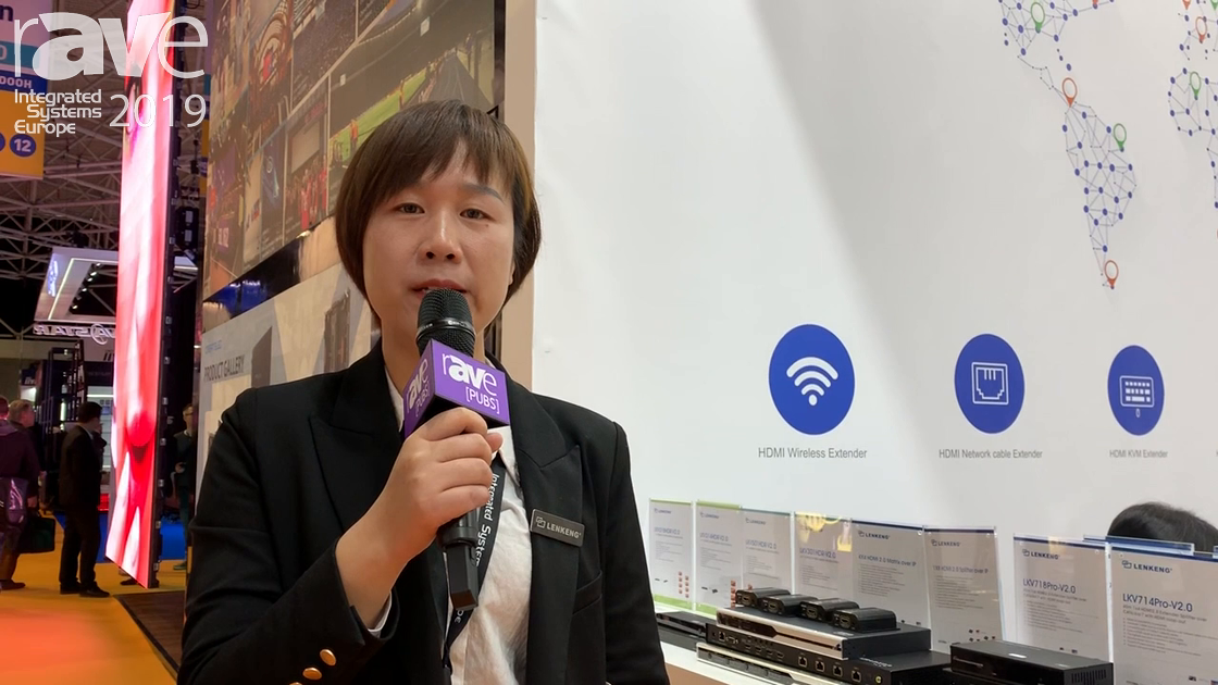 ISE 2019: LENKENG Explains LKV372KVM 1080p Low Latency HDMI KVM Extender Over Cat5