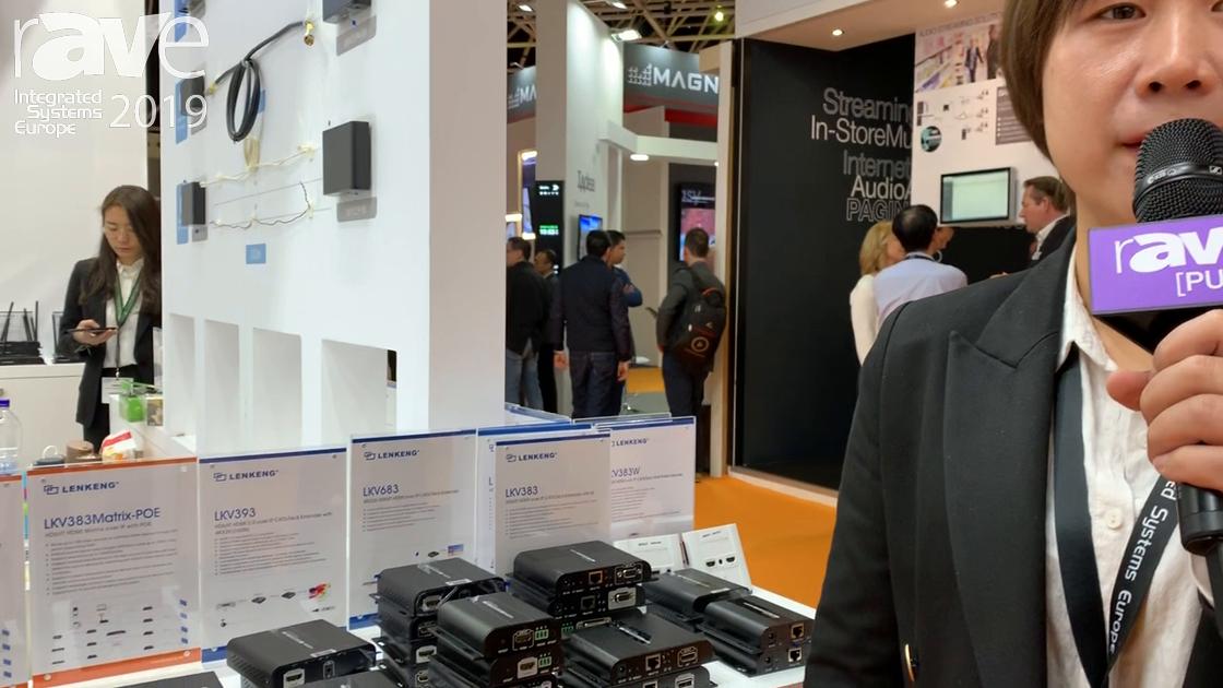 ISE 2019: LENKENG Features LKV393Matrix HDbitT HDMI 2.0 Matrix Over IP
