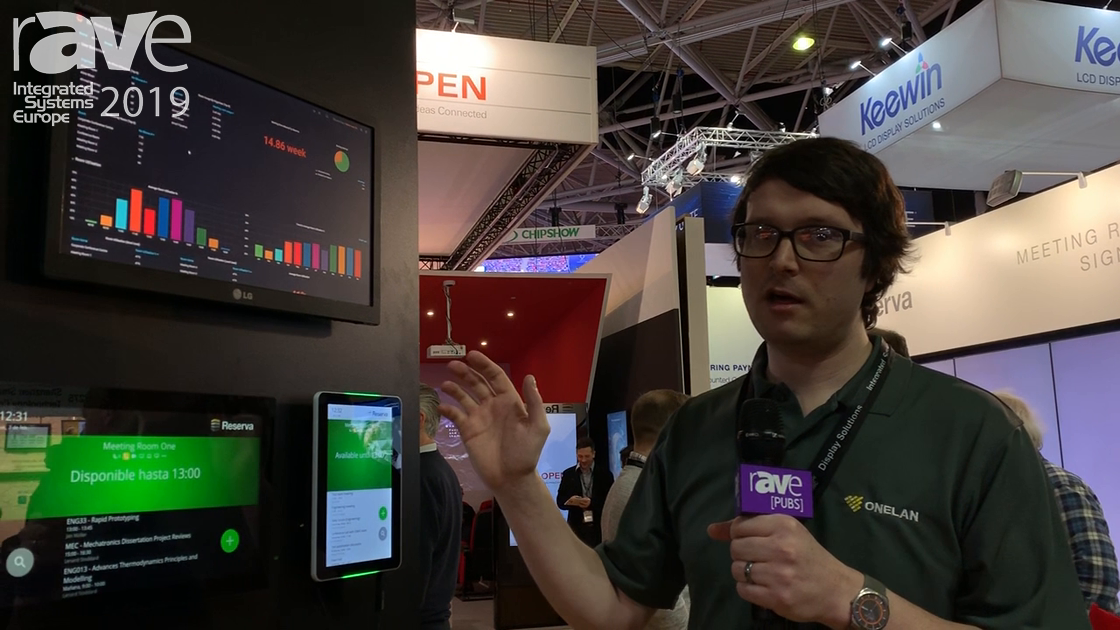 ISE 2019: Onelan Ltd. Shows Analytics and Reporting as Part of the Reserva Room Signage Range