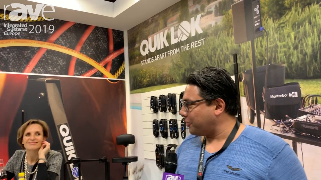 ISE 2019: Quiklok Presents Stands for Speaker and Microphone Systems
