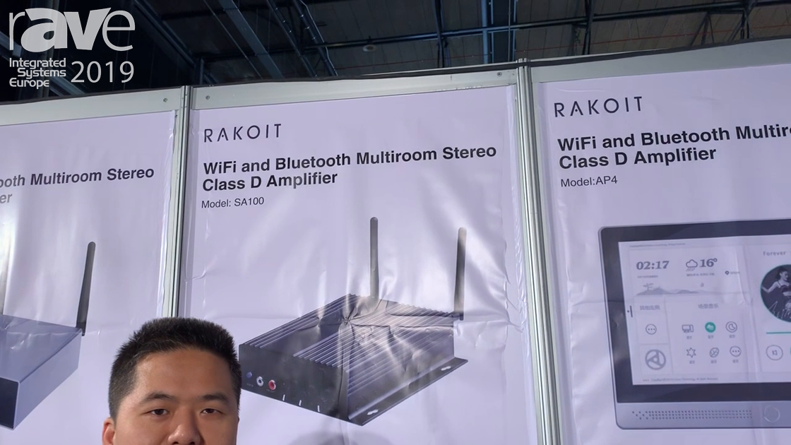 ISE 2019: Rakoit Shows SA100 Wi-Fi and Bluetooth Multiroom Stereo Class D Amplifier