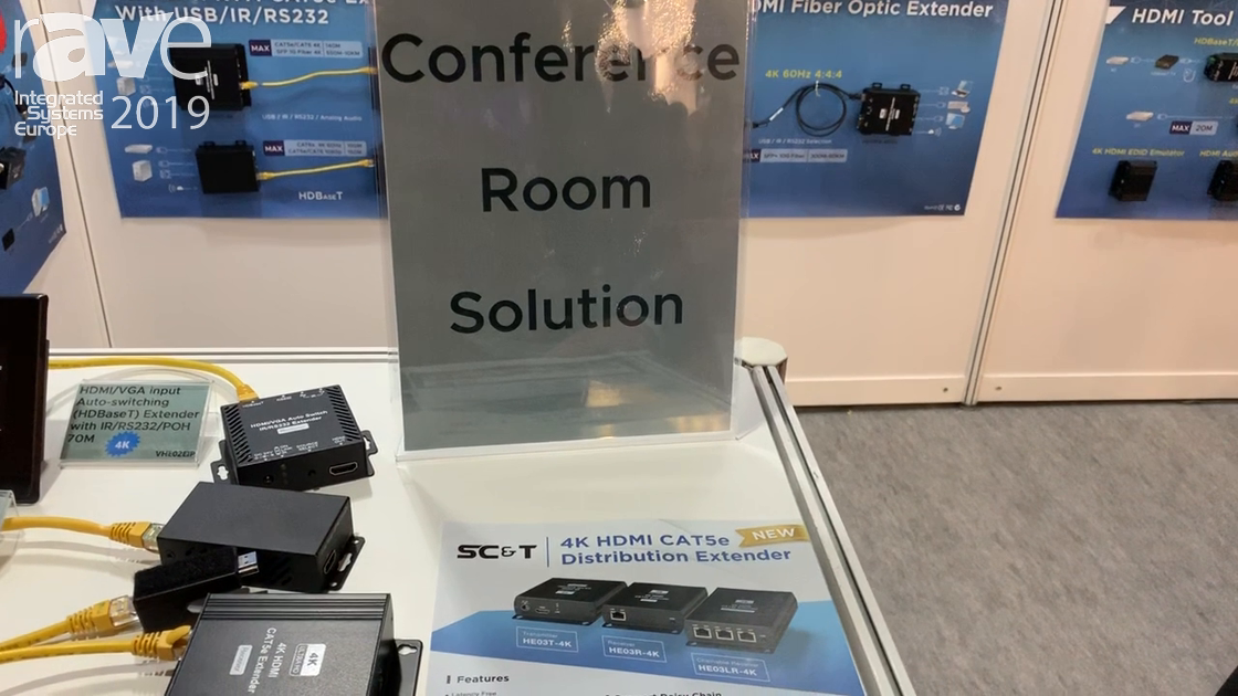 ISE 2019: SC&T Talks About Its 4K HDMI Cat5e Distribution Extender