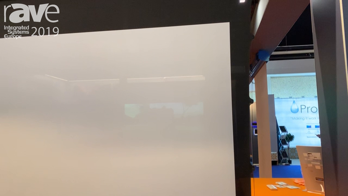 ISE 2019: Screenint Highlights Raffaello Tensioned Tension Projector Screen