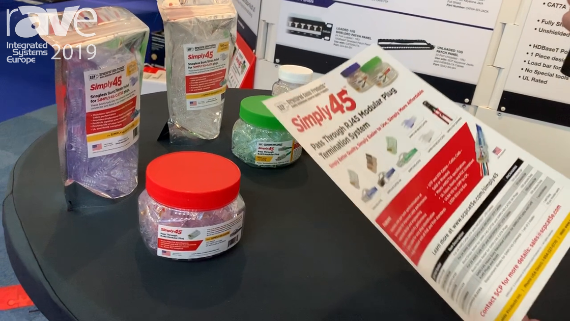 ISE 2019: Structured Cable Products Debuts Simply45 RJ45 Connectors