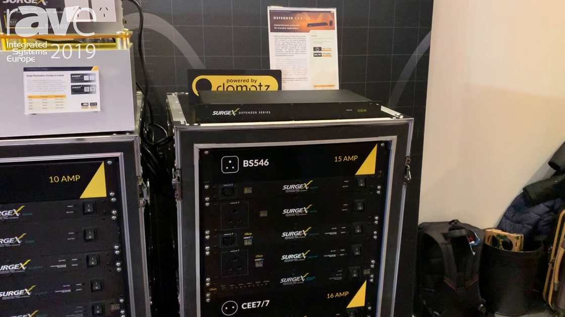 ISE 2019: SurgeX Intros Defender Series Power Surge Protection for Home or Office