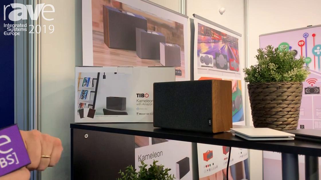 ISE 2019: TIBO Audio Presents Kameleon Touch Speaker Product With Amazon Alexa