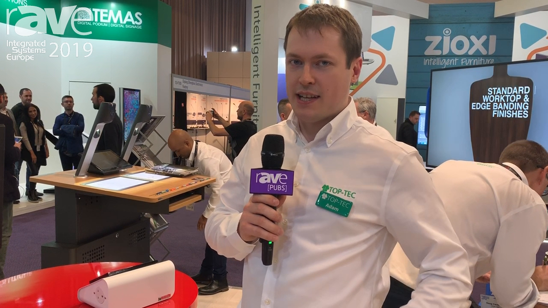 ISE 2019: TOP-TEC Exhibits Contour Lectern With Easy Rack Access