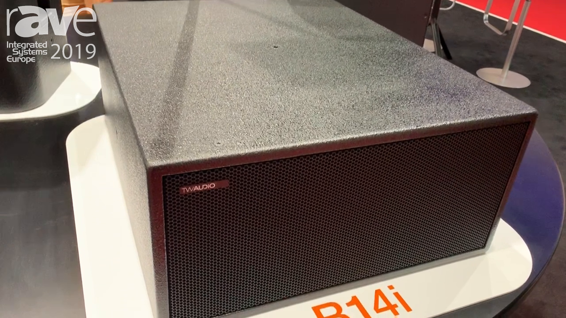 ISE 2019: TW Audio Showcases the Compacy, Powerful B14i Subwoofer