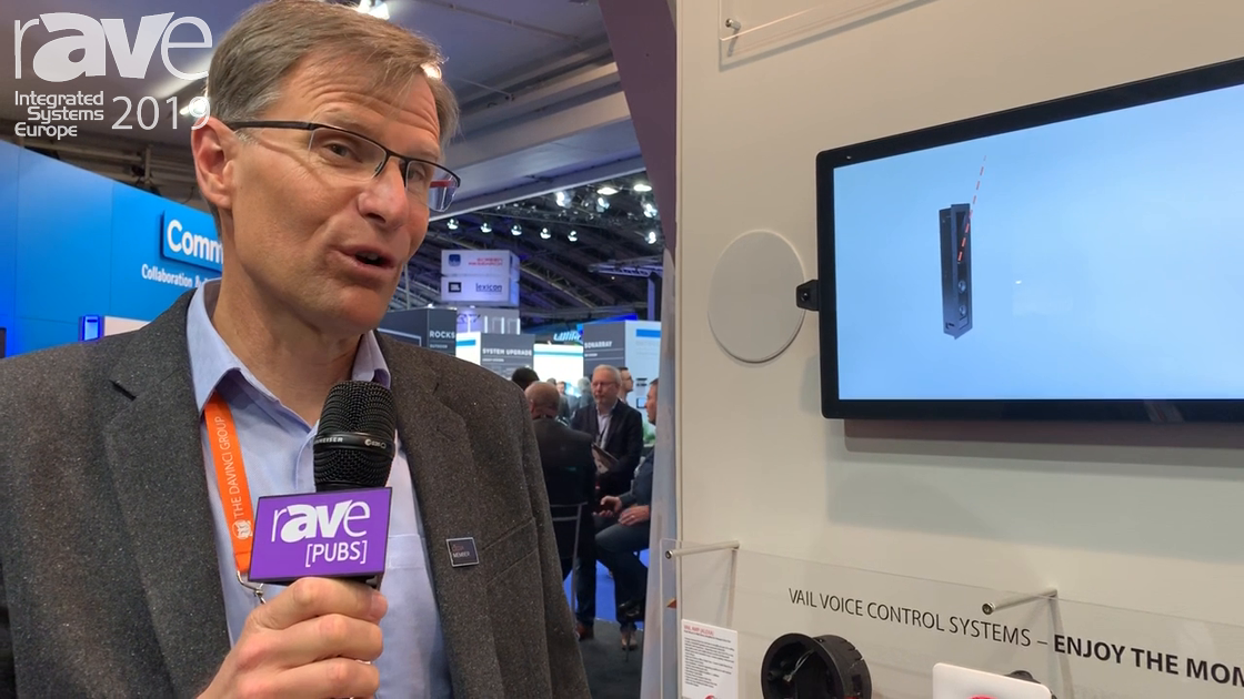 ISE 2019: The DaVinci Group Debuts Vanguard Dyanmics Vail Amp 3 Dock for Amazon Alexa 3rd Gen Dot