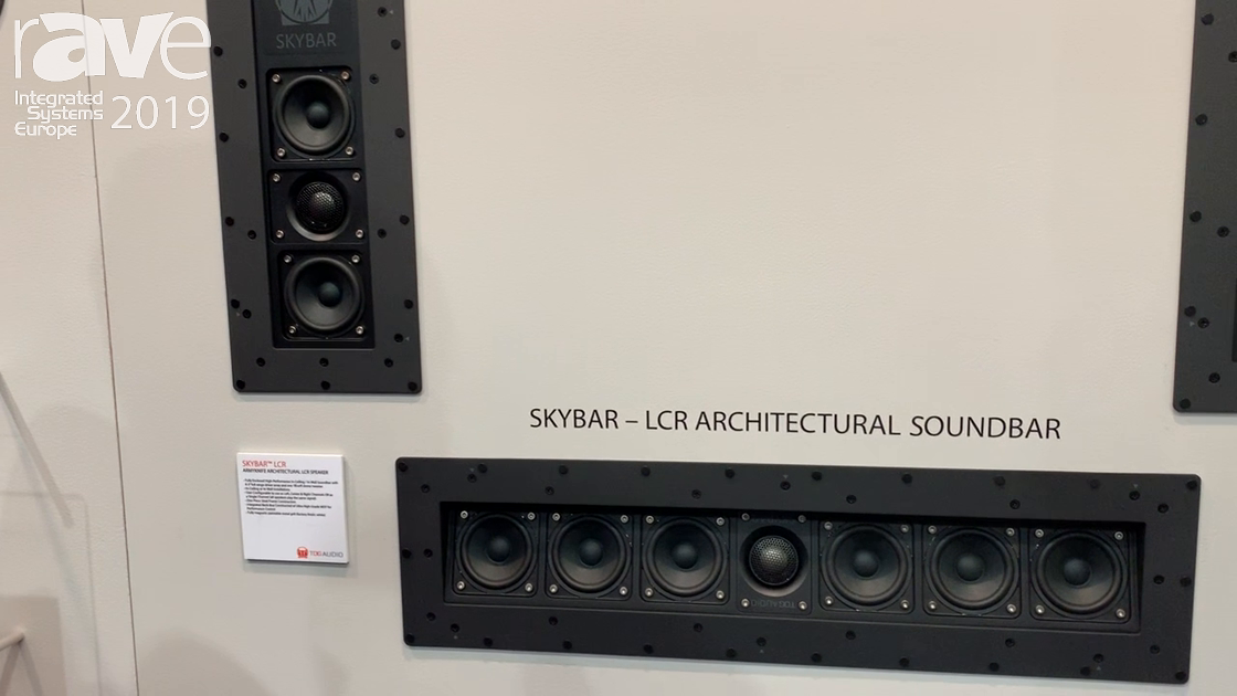 ISE 2019: The DaVinci Group Overviews Skybar LCR Architectural Soundbar