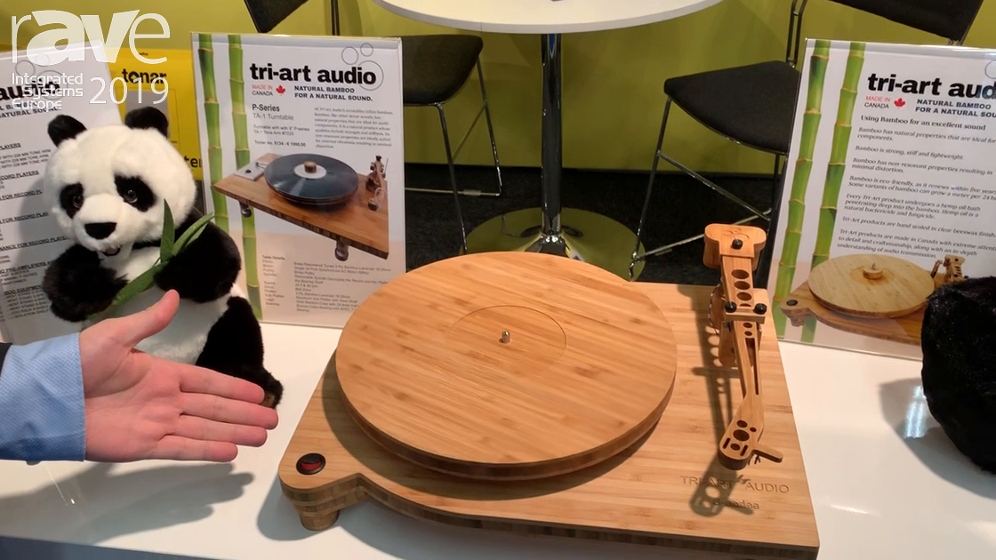ISE 2019: Tonar Exhibits Bamboo Vinyl Turntable