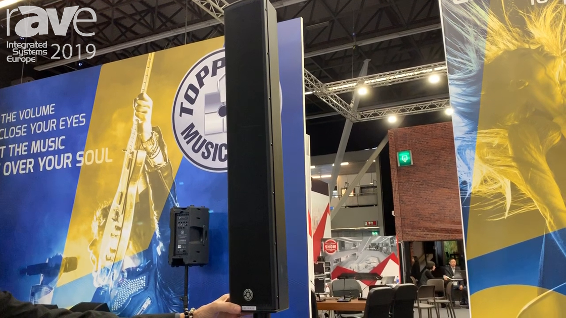 ISE 2019: Topp Pro Talks About SOHO V8 Plus Vertical Line Array and Subwoofer